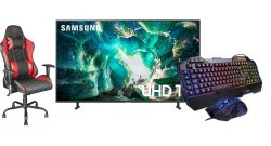 Spieletauglicher UHD-TV und Gaming-Peripherie bei Amazon vergünstigt