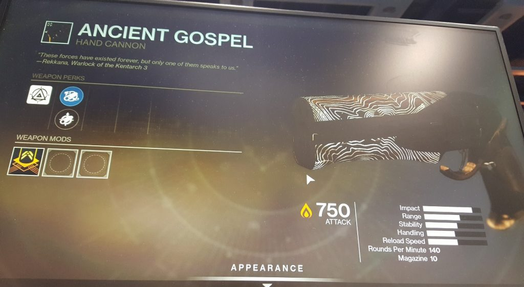 destiny 2 shadowkeep ancient gospel