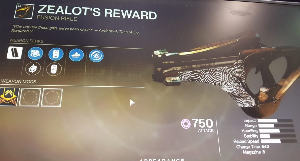 destiny 2 shadowkeep zealots reward