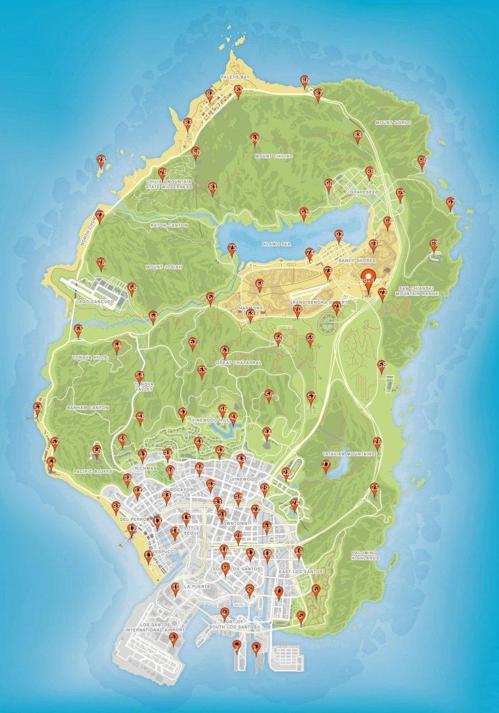 GTA Online Action Figuren Fundorte Map