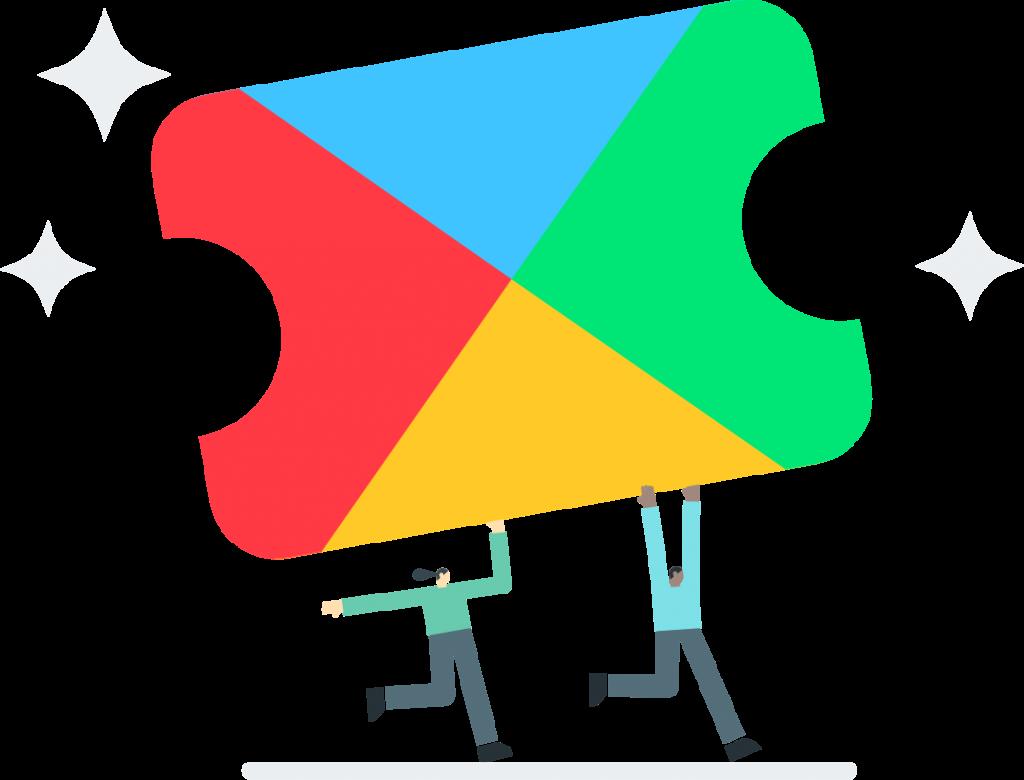 Das Symbol für den Google Play Pass