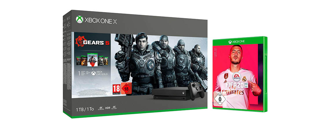 otto angebote xbox one x mit gears 5 fifa 20 anthem f r 429. Black Bedroom Furniture Sets. Home Design Ideas