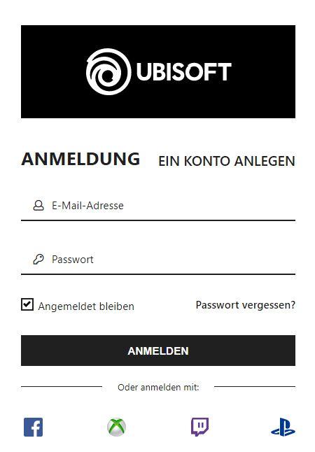 Uplay+ Angebot Anmeldung Accounts