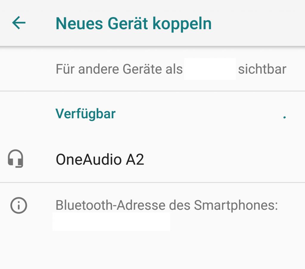Android Bluetooth Gerät koppeln