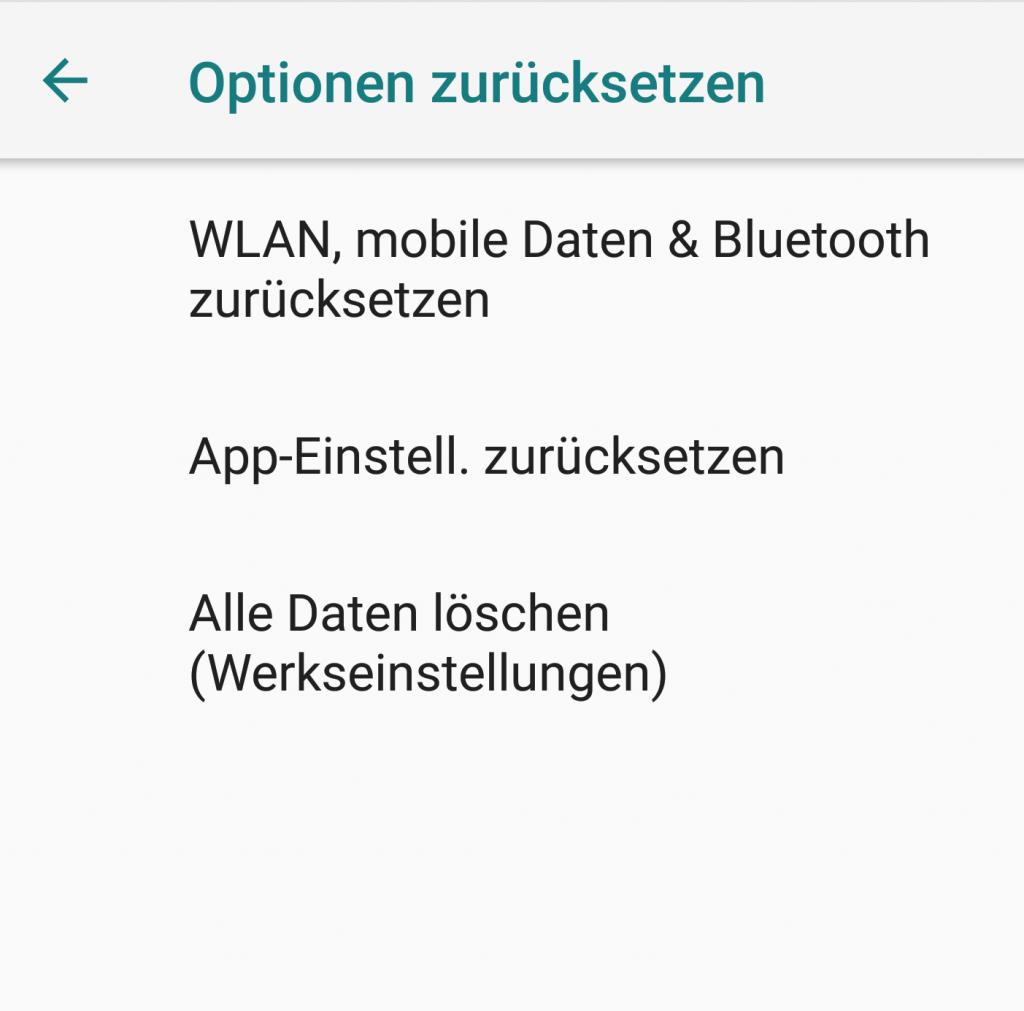 Bluetooth Android Einstellugen zurückssetzen