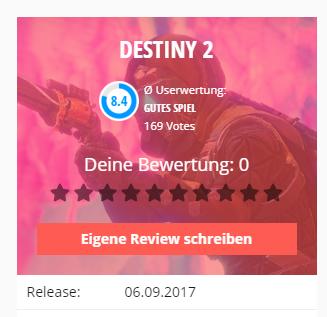 destiny 2 user review