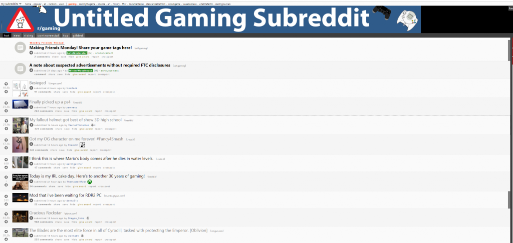 untitled gaming subreddit
