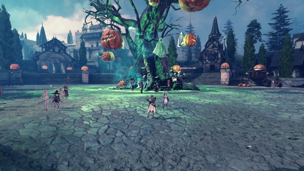 Meiville geschmückt zu Halloween