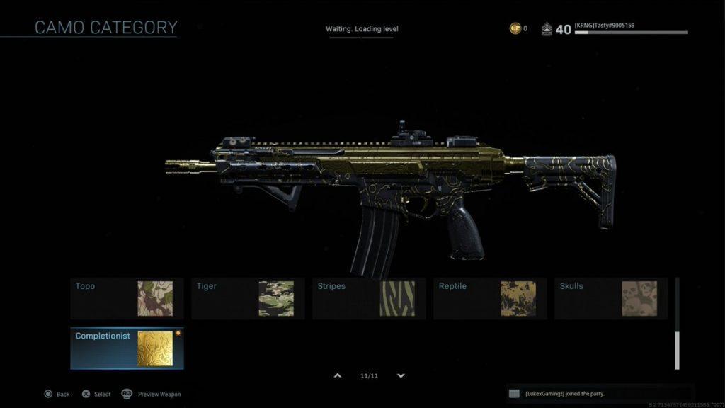 Call of Duty Modern Warfare Gold Skin