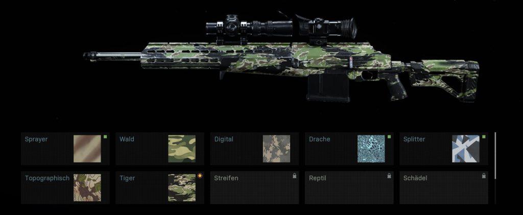 Call of Duty Modern Warfare Skin Kategorien