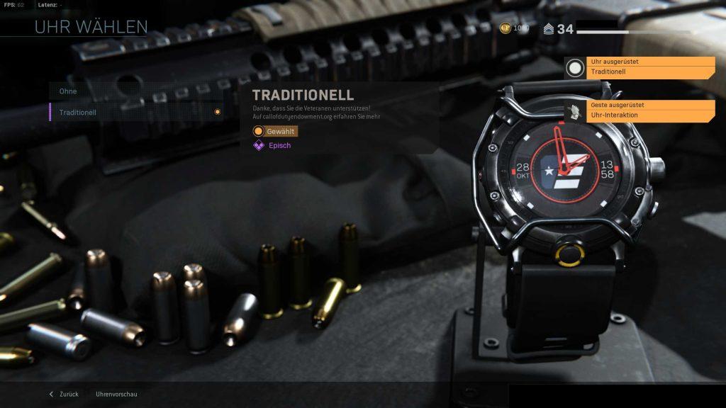 Call of Duty Modern Warfare Uhr freigeschaltet