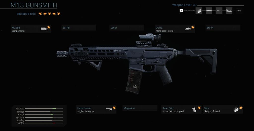 Call of Duty Modern Warfare M13