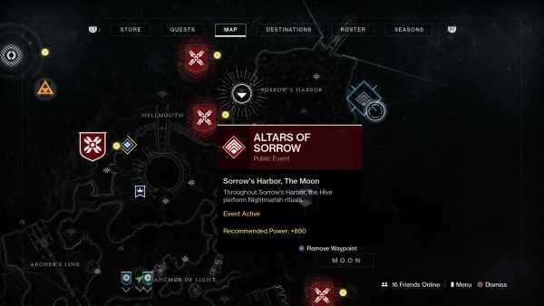 Destiny 2 Altar of Sorrows