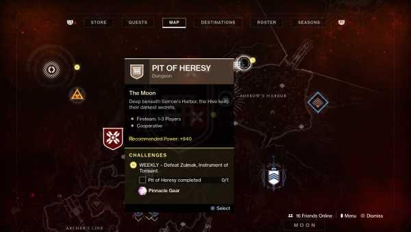Destiny 2 Pit of heresy auf Karte