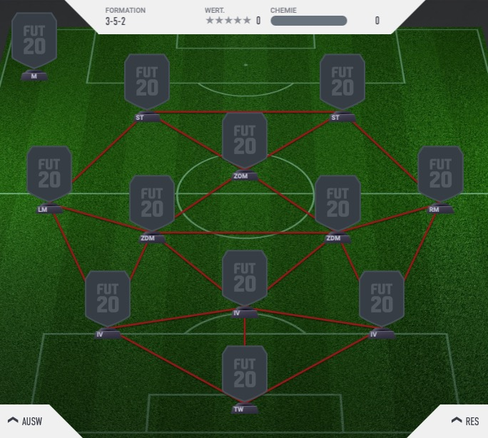 FIFA 20 Formation 3-5-2