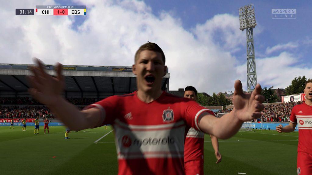 FIFA 20 Offline-Spiel 1:0 CHI : EBS, 1. HZ