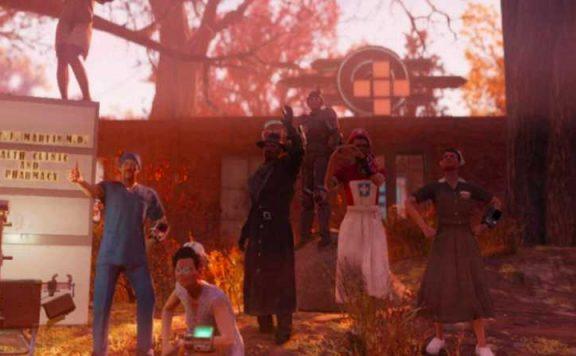 Fallout 76 Der Doc und Truppe Titel