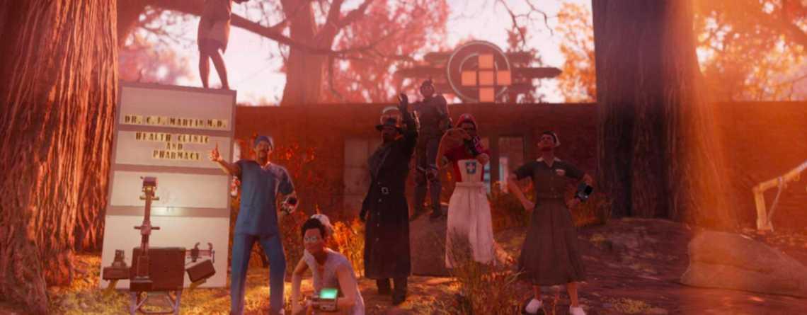 """Ein """"NPC-Arzt"""" in Fallout 76 ist so beliebt, dass niemand ihn töten will"""