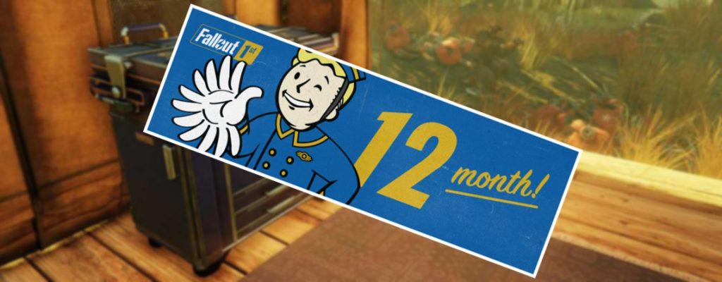 Fallout 76 Fallout 1st Kiste Titel mit Monaten