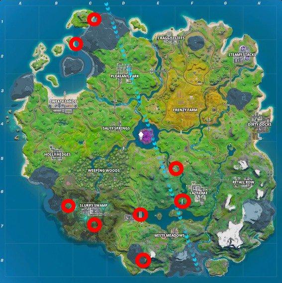 Fortnite-Feuerringe-Map