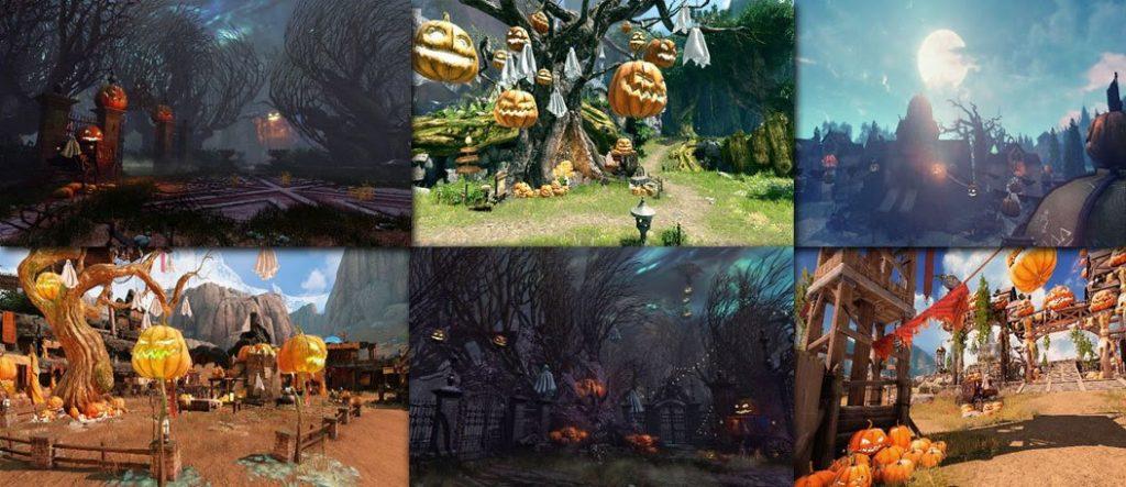 Halloween mit vielen Kürbissen in Astellia