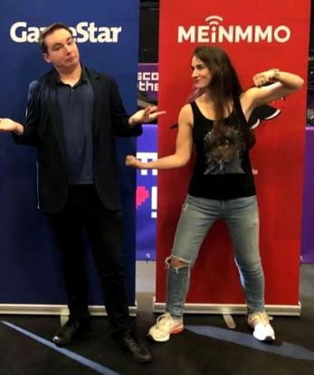 Maurice Weber von der GameStar und Leya Jankowski von MeinMMO