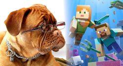 Minecraft dog title 1140×445