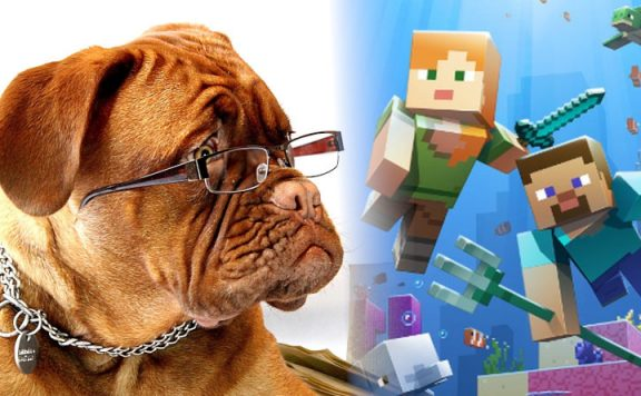 Minecraft dog title 1140×445