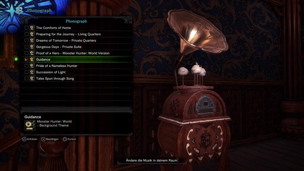 Monster Hunter World Iceborne dein Raum Musikbox