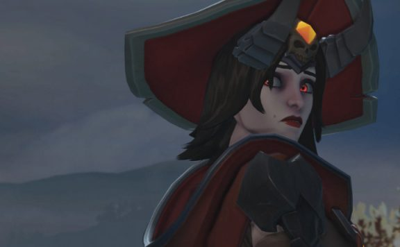 Overwatch Ashe warlock scared title 1140×445