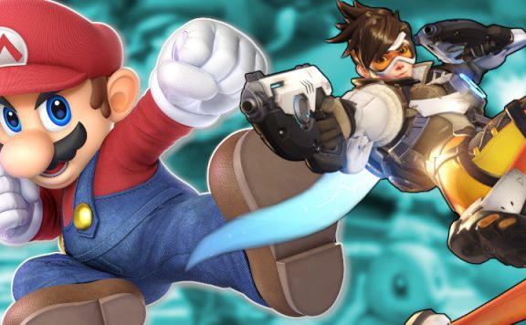 Overwatch Mario Tracer title 1140×445