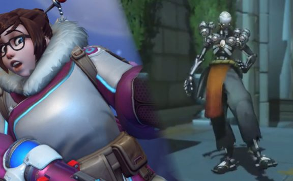 Overwatch Mei Zenyatta walking title 1140×445