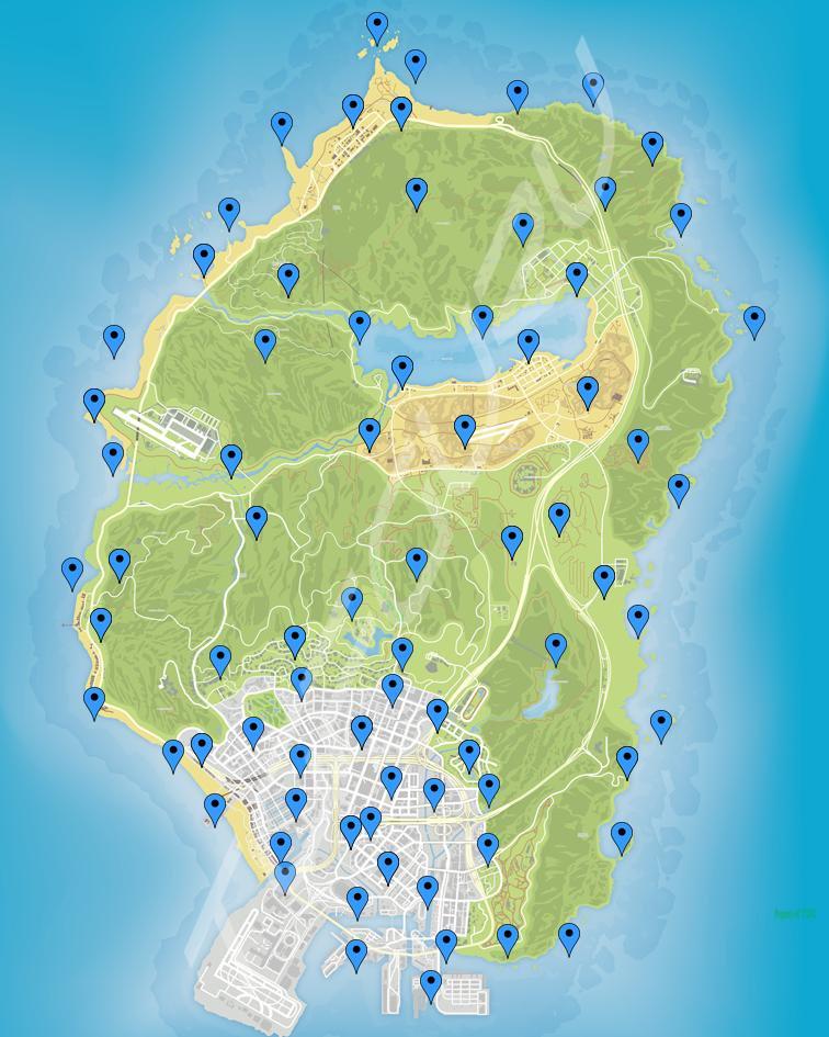 GTA Online Peyote Map