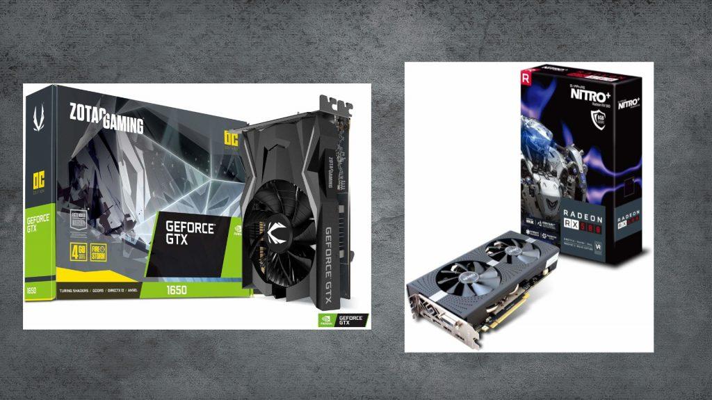 AMD RX 580 und Nvidia GTX 1650