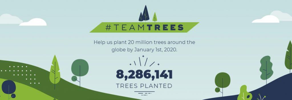 Teamtrees Spenden Zahl
