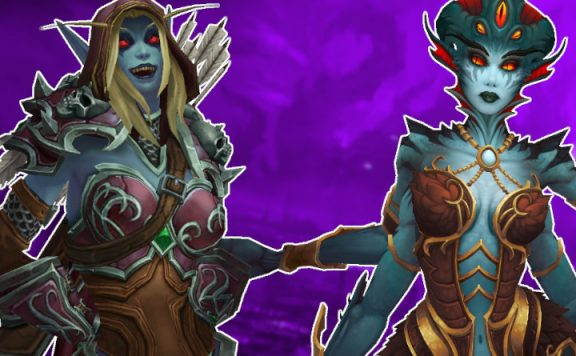 WoW azshara sylvanas title purple 1140×445