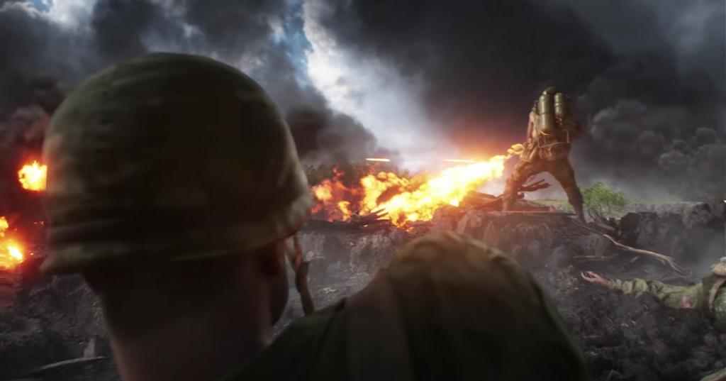 BF5 Pazifik Trailer Flammenwerfer