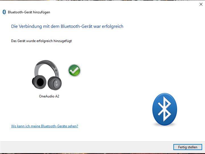 Bluetooth Windows 10 Gerät erkannt