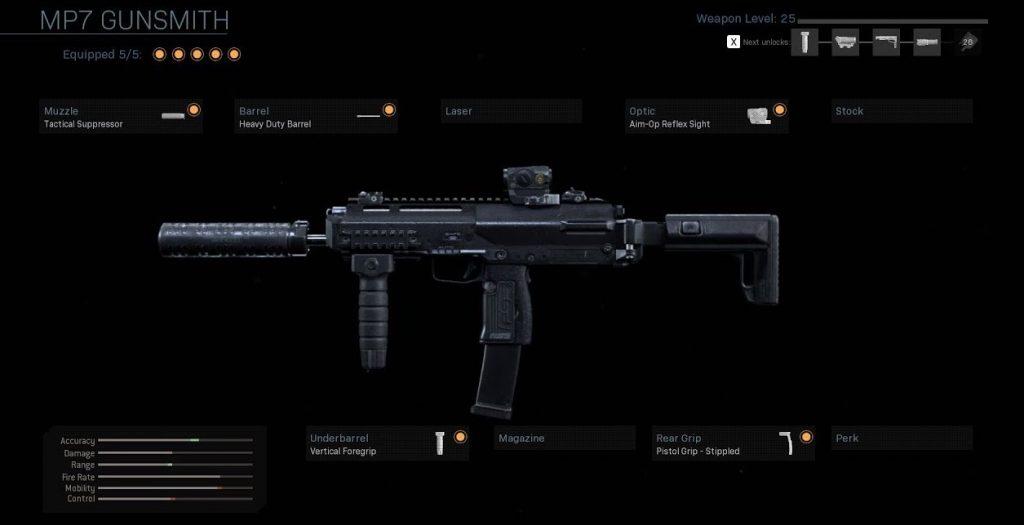 Call of Duty Modern Warfare Mp7