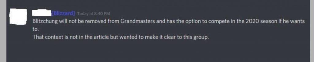hearthstone blitzchung grandmaster restore