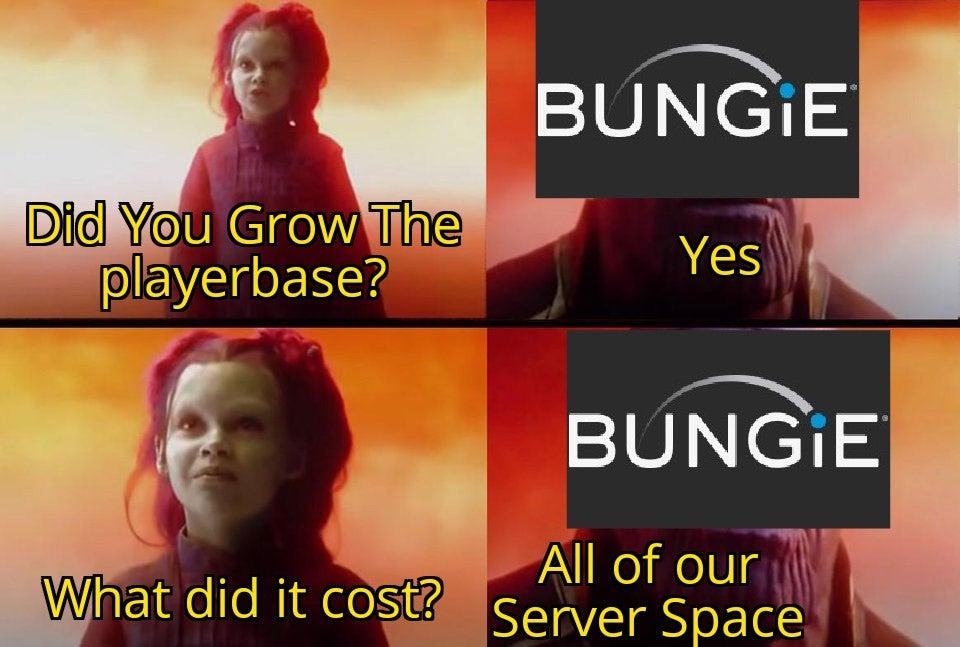 destiny 2 server down meme 1