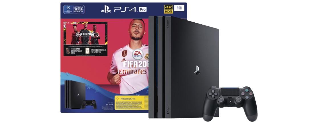 PlayStation 4 Pro mit FIFA 20 aktuell günstig bei Saturn zu haben