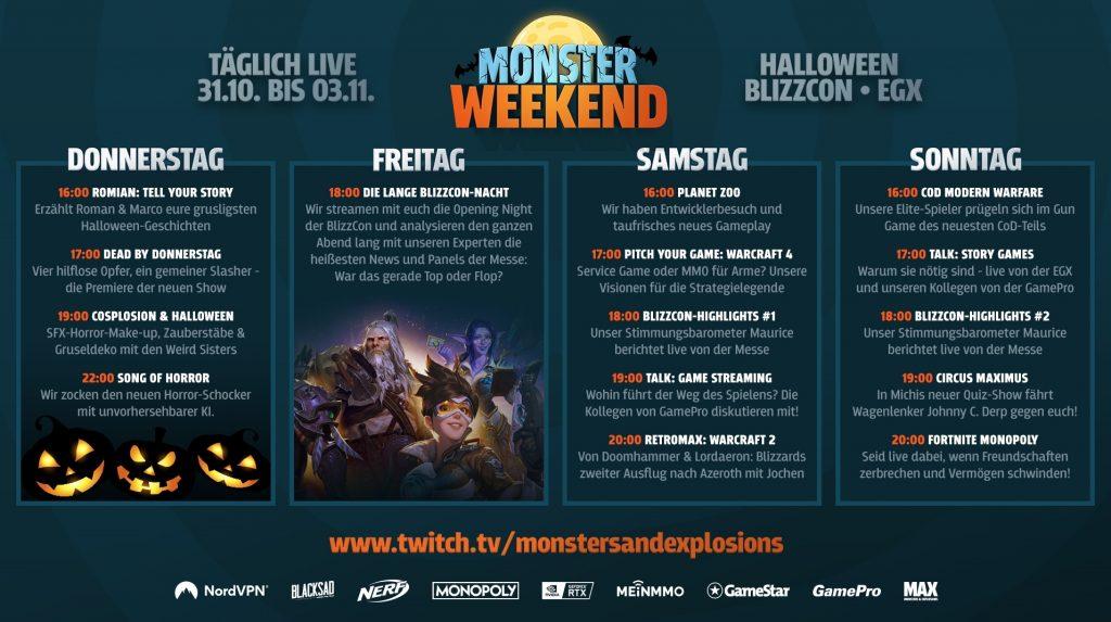 monster weekend plan