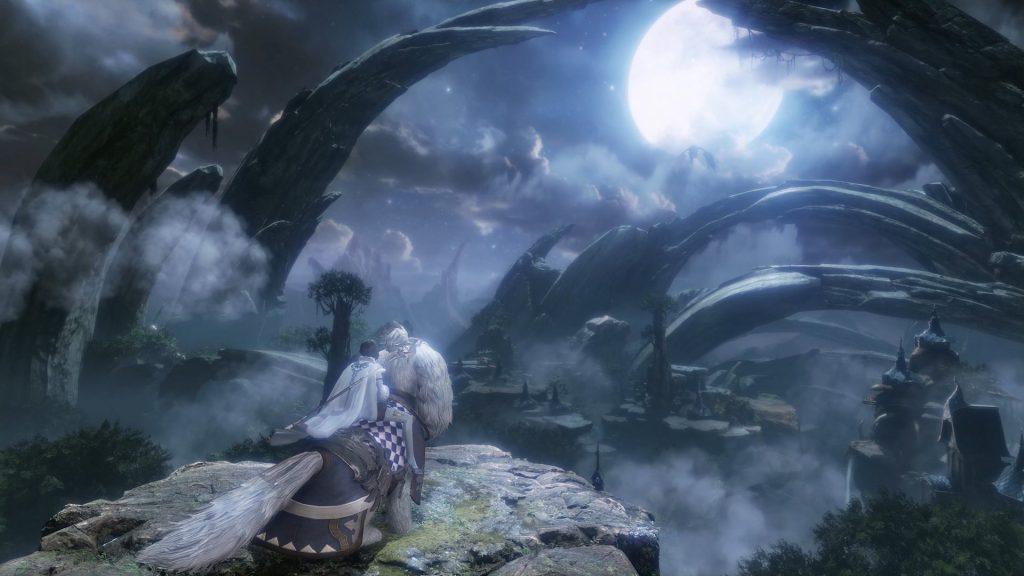 Astellia Landschaft Mondschein