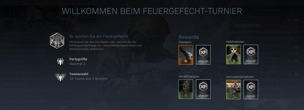 CoD MOdern Warfare Turnier Belohungen