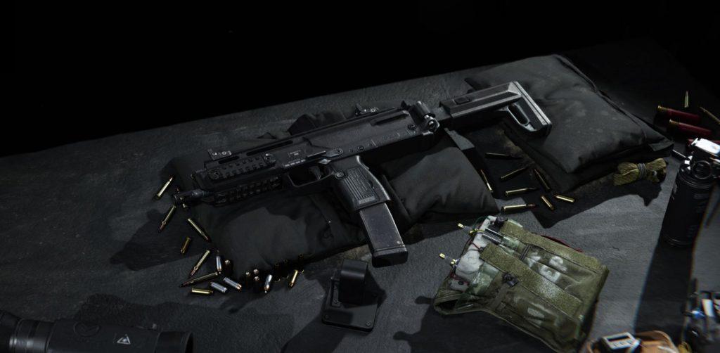 Call of Duty Modern Warfare MP7 liegend