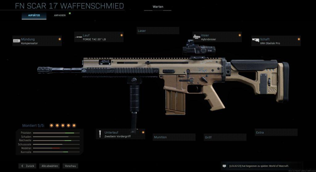 Call of Duty Modern Warfare Marksman Scar