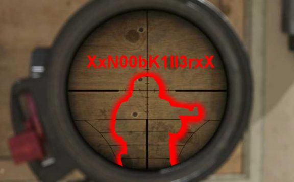 Call of Duty Modern Warfare Wand Scope Titel mit Typ Wallhack