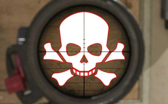 Call of Duty Modern Warfare Wand Scope Totenkopf Titel