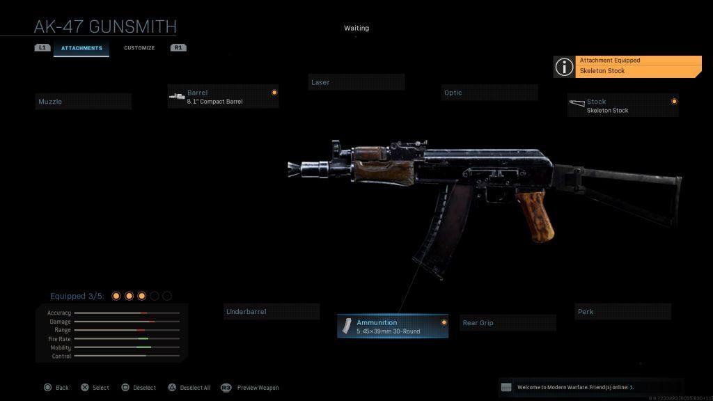 Call of Duty Modern Warfare geheime Waffen AK47 u